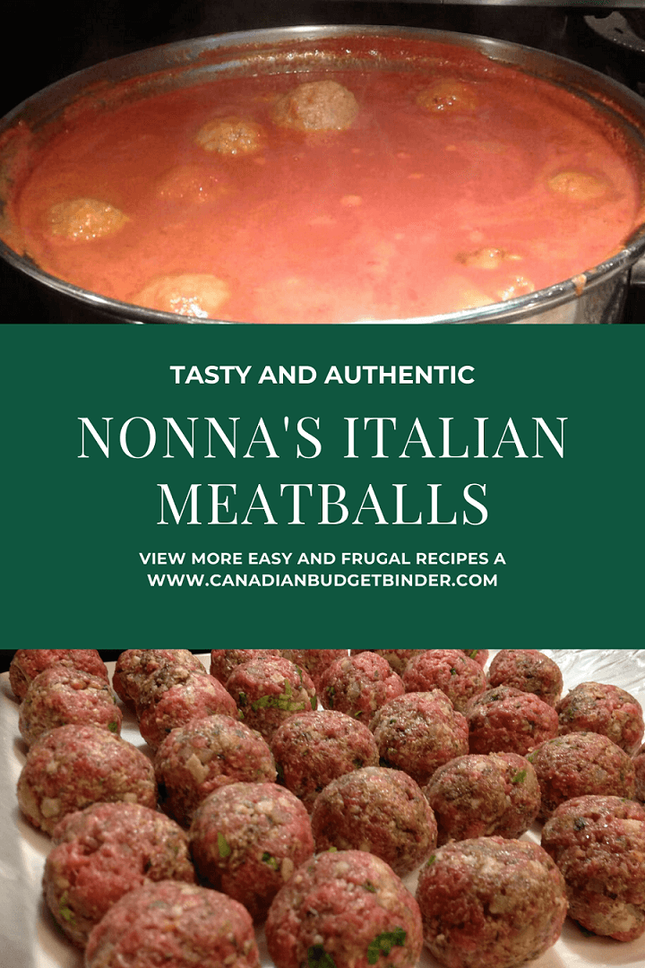 Nonna's Italian Meatballs and Pasta Sauce