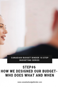 CANADIAN BUDGET BINDER 10 STEP BUDGETING SERIES- 6 who does what and when