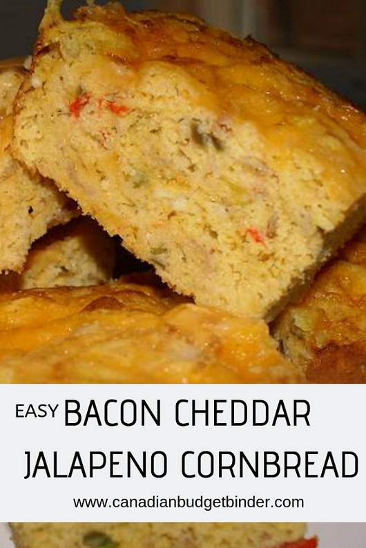 Easy Bacon Cheddar Jalapeno Cornbread