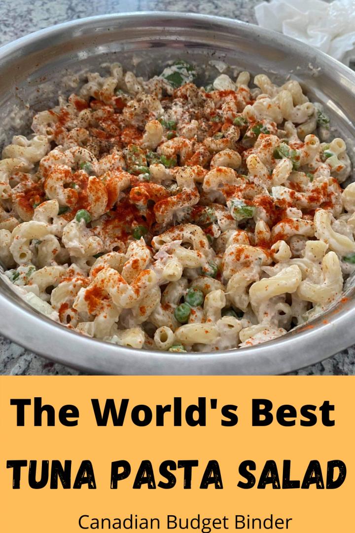 The best easy tuna macaroni salad. Tuna pasta salad.