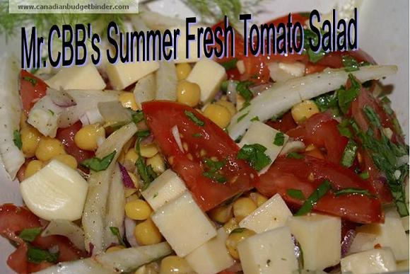 Mr.CBB's Summer Fresh Tomato Salad with Basil, Fennel and Chick Peas