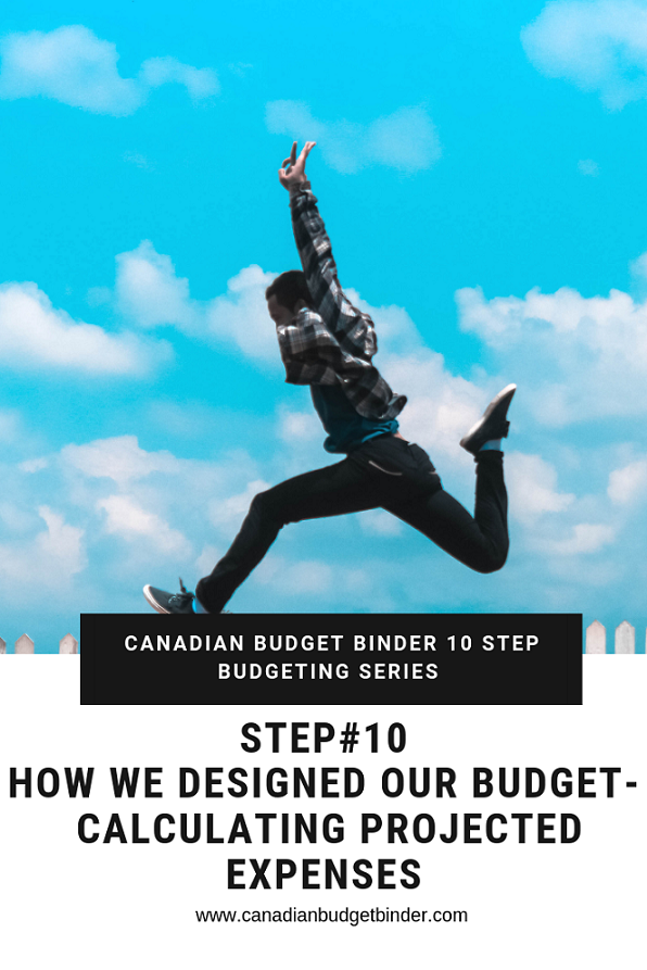 CANADIAN BUDGET BINDER 10 STEP BUDGETING SERIES- Step 10 Projected Expenses