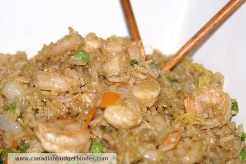 vegetable fried rice with shrimp