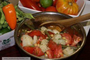 """Mr.CBB""""s Tomato Potato Salad with Green Beans and Chick Peas"""