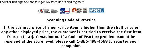 Scanning code of practice (SCOP)