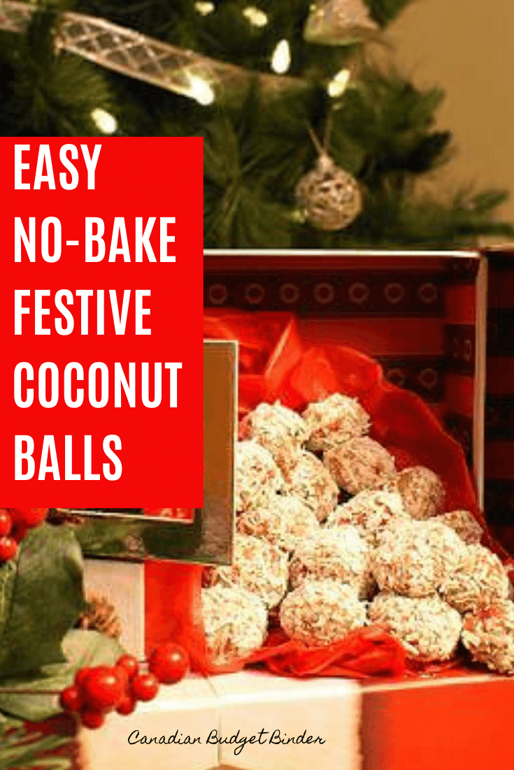 Festive No-Bake Coconut Balls