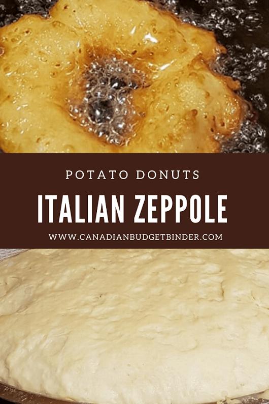 Frying Zeppole Donuts