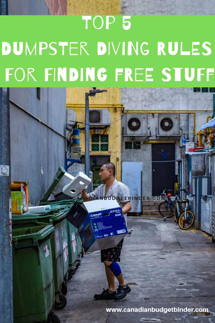 Top 5 Dumpster Diving Rules For Finding Free Stuff