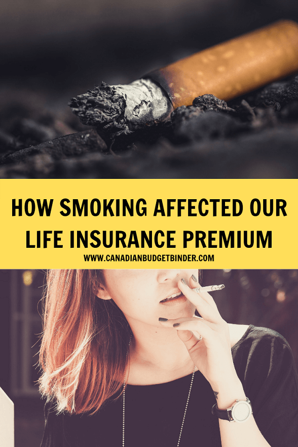 HOW SMOKING AFFECTED OUR LIFE INSURANCE PREMIUM