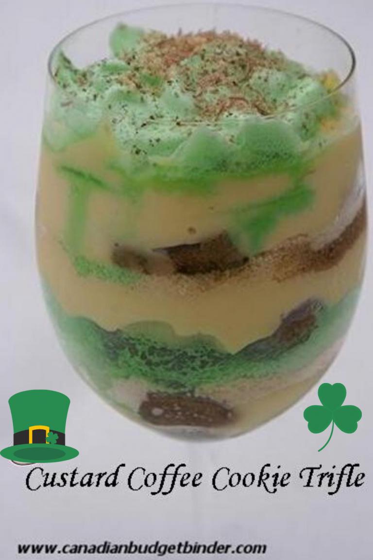 St. Patrick's Day: Mr.CBB's Custard Coffee Cookie Trifle