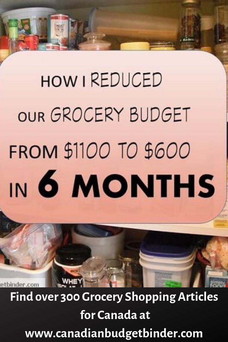 How I Reduced Our Grocery Budget From $1100 To $600 In 6 Months