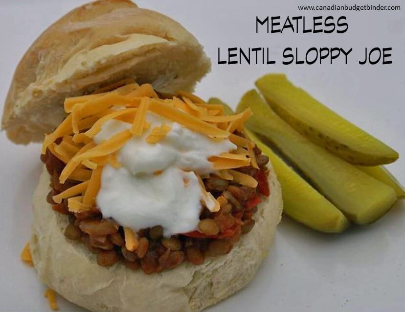 meatless lentil sloppy joe
