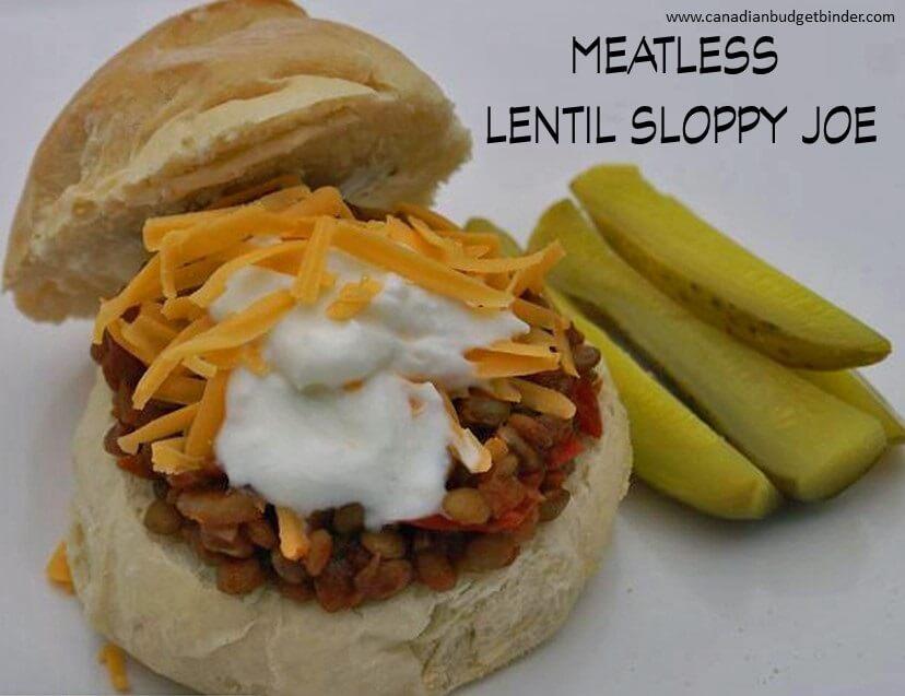 meatless lentil sloppy joe