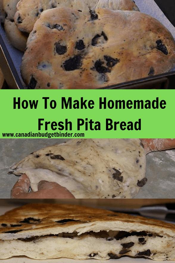 Homemade Olive Pita Bread