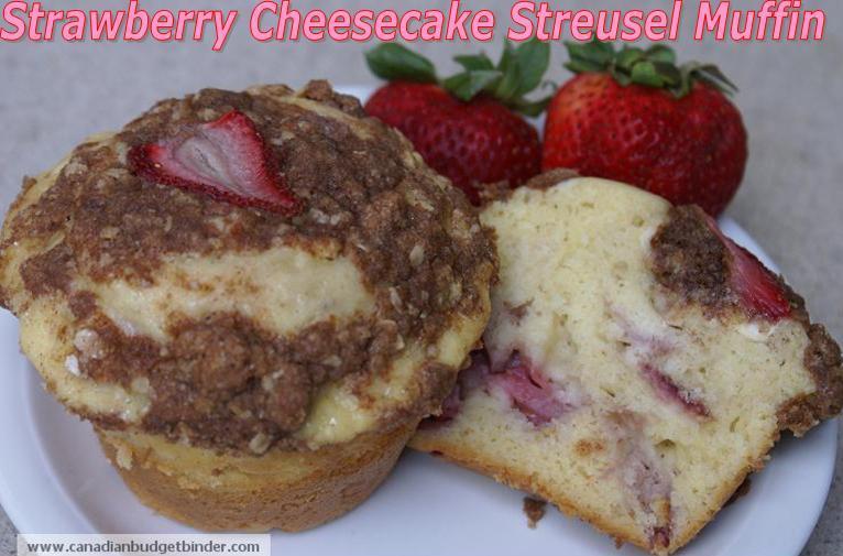 Strawberry Cheesecake Streusel Muffin (Strawberry Muffin)