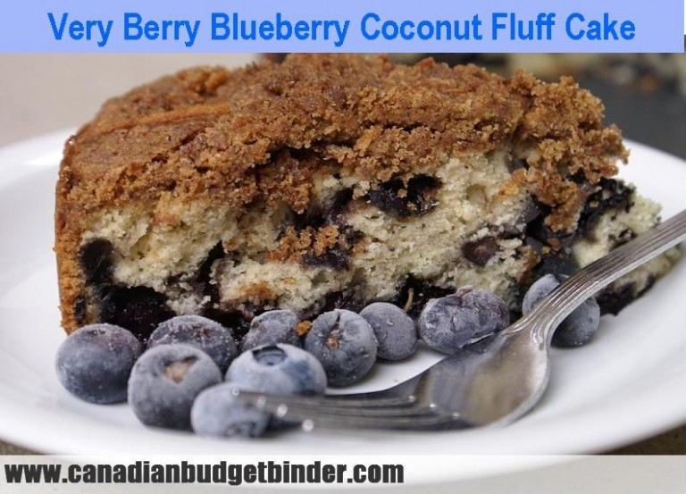 Very berry blueberry coconut fluff cake