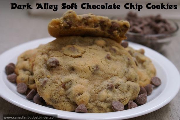 Dark alley soft chocolate chip cookies