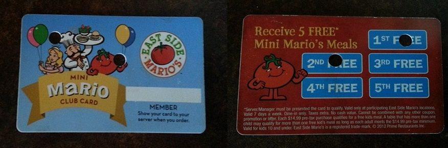 East Side Marios Mini Kids club
