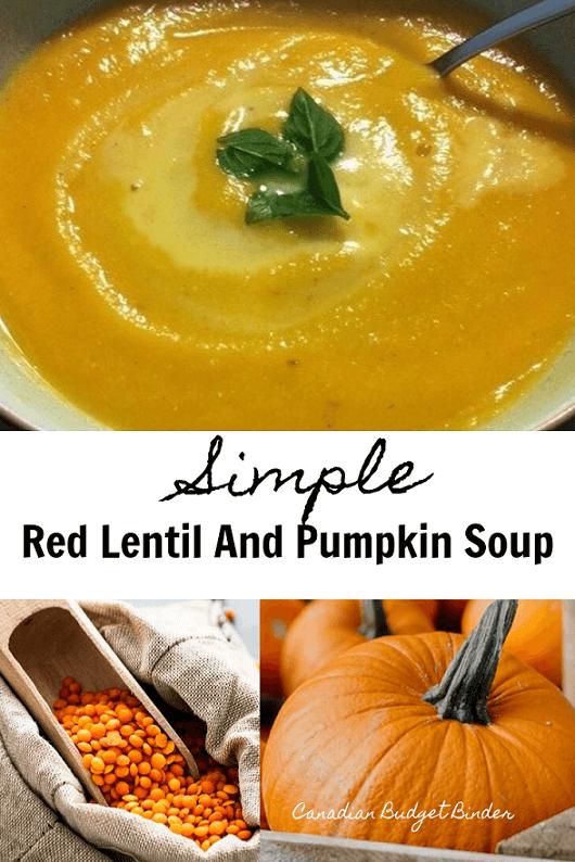 Simple Red Lentil And Pumpkin Soup