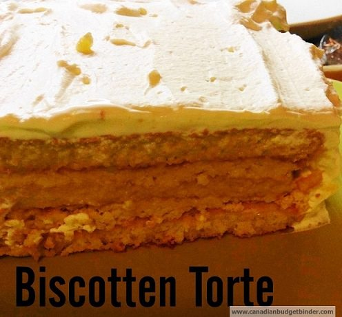 Biscotten Torte (Biscuit Cake)