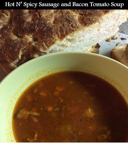 Hot 'n' Spicy Sausage and Bacon Tomato Soup