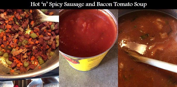 bacon sausage tomato soup