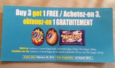buy 3 get 1 free cadbury coupon