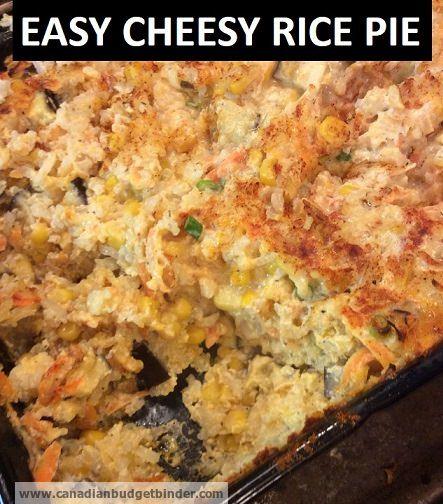 Easy Cheesy Rice Pie
