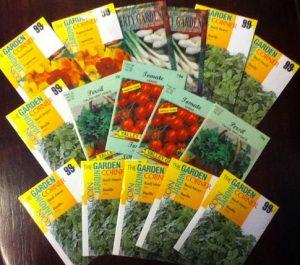 Spring garden seeds