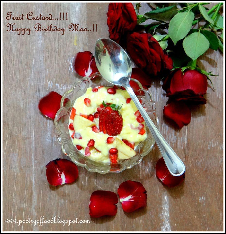 Indian style fruit custard