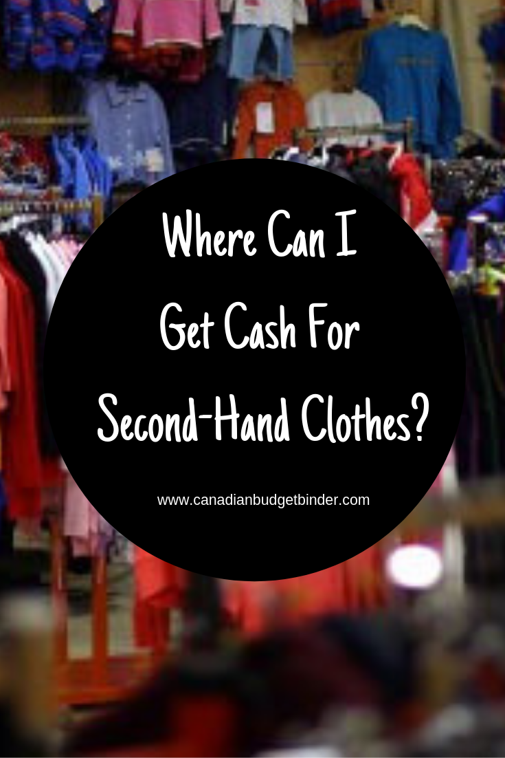 Where can I get cash for second-hand clothes?