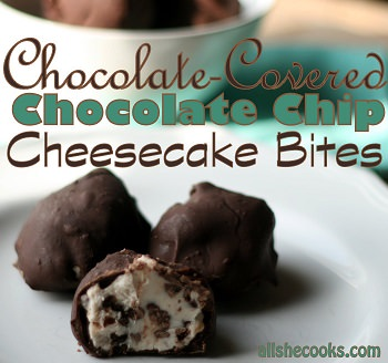 chocolate covered cheesecake bites