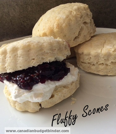 luffy scones with jam and cream
