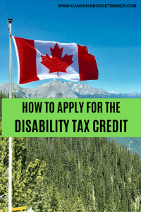 Disability Tax Credit Canada