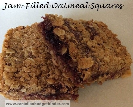 Jam-filled Oatmeal Squares