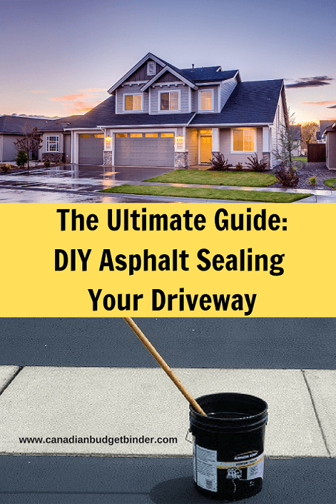DIY asphalt Sealing