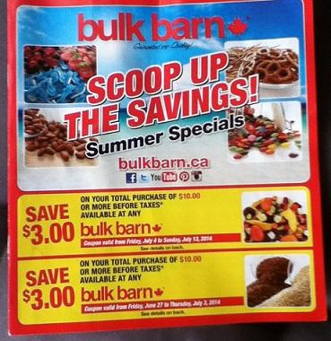 July 2014 Bulk Barn Coupons Canada