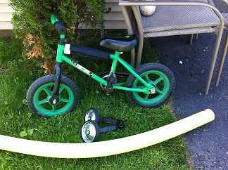 garage sale finds Canada childs bike