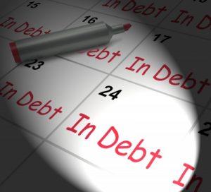 in debt bank account balance
