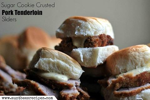 sugar cookie coated pork tenderloin sliders