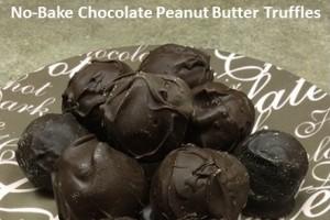 No bake chocolate peanut butter truffles