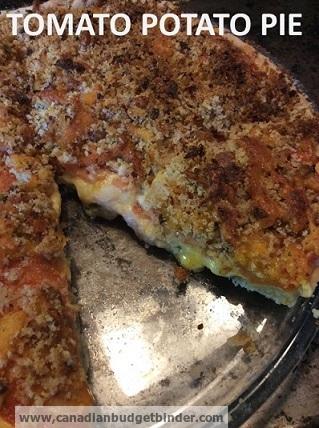 Cheesy Tomato Pie with Potato Crust