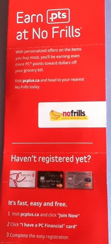 PC Plus program No Frills Canada
