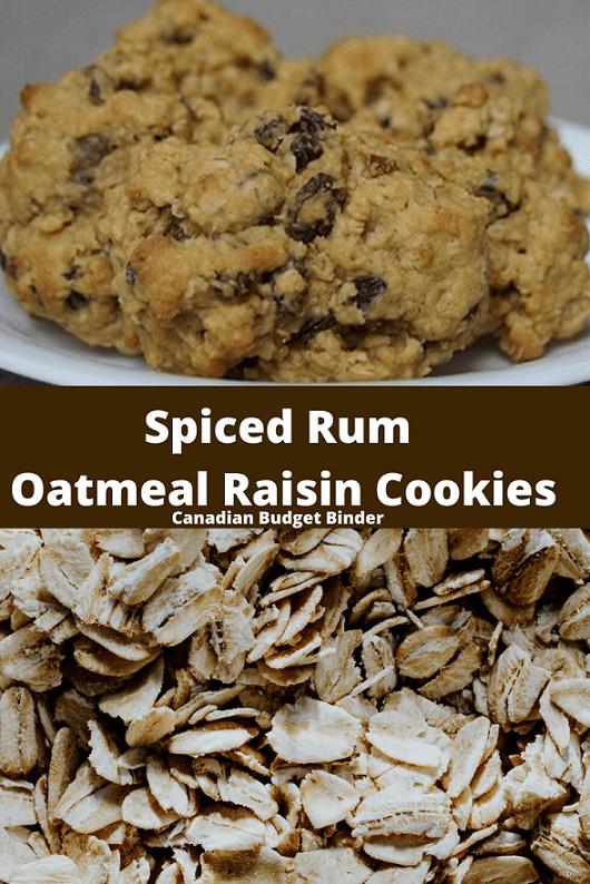 Spiced Rum Oatmeal Raisin Cookies