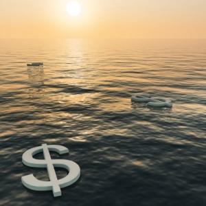 money float away water
