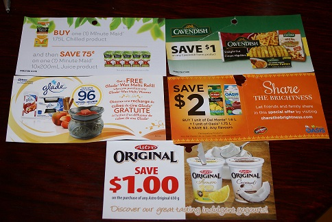 Canada coupons Oct 2014 minute maid, astro yogurt