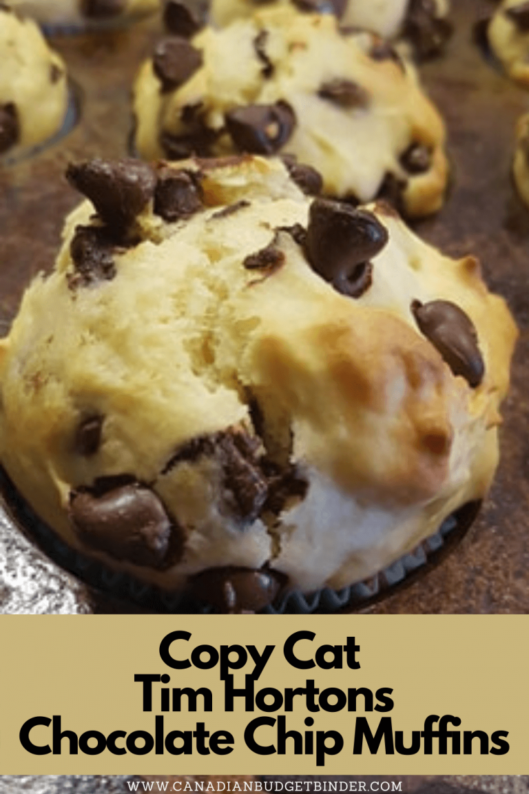 Copycat Tim Hortons Chocolate Chip Muffins
