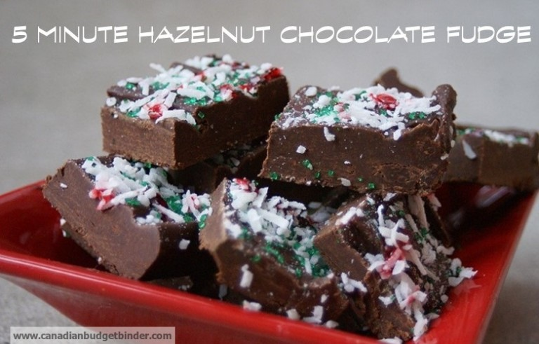 5 Minute Hazelnut Chocolate Fudge