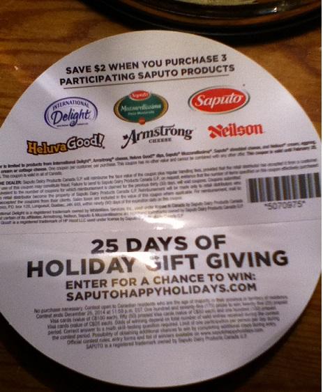 Saputo coupon 2014