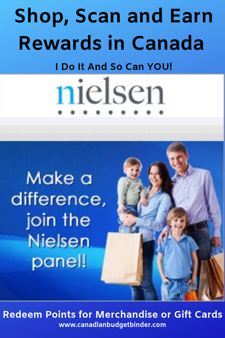 Shop, Scan and Earn Rewards in Canada Nielsen Home Scan Canada Panel